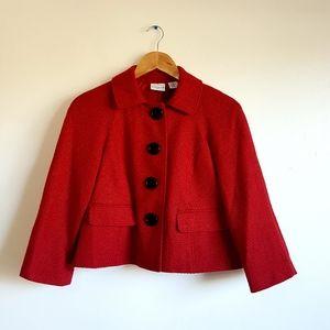 Tweed Button Jacket